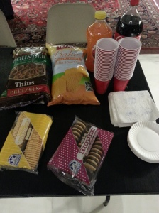 The key to the success of any academic event is snacks.
