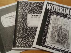 """Three issues of """"Working It"""" fanned out on a table."""